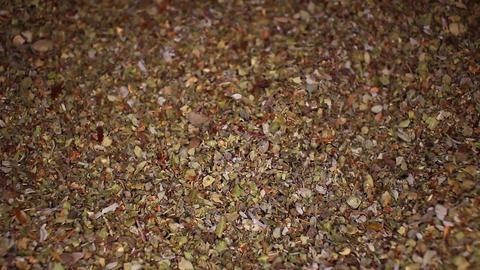 Healthy green tea grains texture closeup Footage