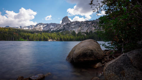 Time Lapse of a peaceful lake in the Sierra Nevada mountains in California Live Action