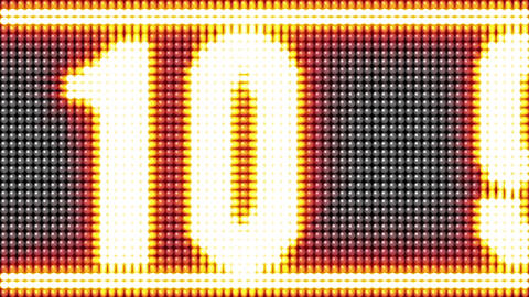 LED light countdown slide animation Animation