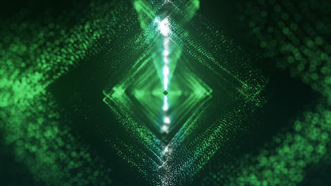 VJ particles Romb green Animation