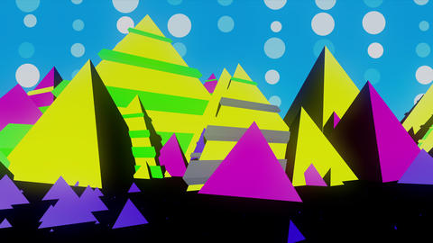 Abstract Pop Colorful Pyramid CG動画