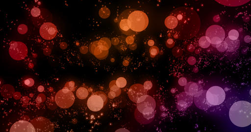 christmas digital glitter sparks multi color red and purple particles bokeh flowing on colorful Footage