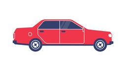 Red classic sedan Footage