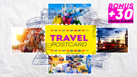 Travel Postcard After Effectsテンプレート