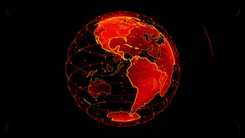 Global network network connection the world abstract 3D... Stock Video Footage