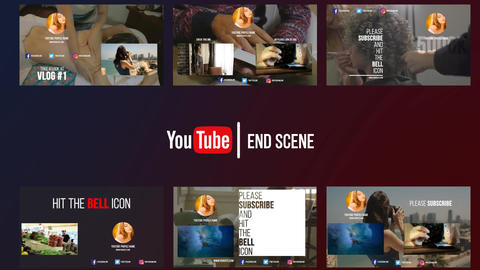 Youtube-endscene After Effects Template