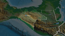 Chiapas - state of Mexico. Physical Animation