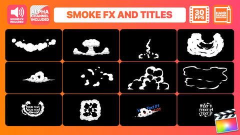 Hand Drawn Smoke FX and Titles Apple Motion Template