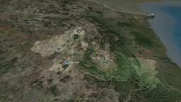 San-Luis-Potosi - state of Mexico. Satellite Animation