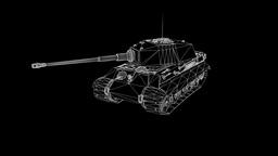 Tank Wireframe Hologram Animation