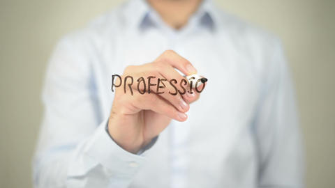 Professional Associations , writing on transparent wall Footage