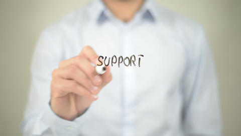 Support Services , writing on transparent wall Footage