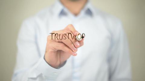 Trustworthy Partner ,Writing on Transparent Screen Footage