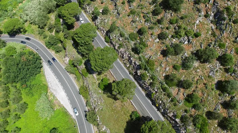 Aerial view of Foro road between Pisa and Lucca,Tuscany Footage