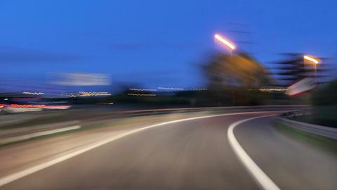 Highway Motorway Rage Camera Car High Speed at Dusk Footage