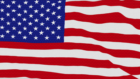 Flag-USA-POP-ART-4k Animation