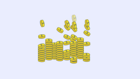 Template lot of coins After Effects Template