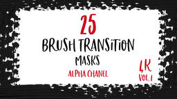 Abstract Paint Brush Transitions Reveal Pack with Alpha Channel (Transparency) Animation