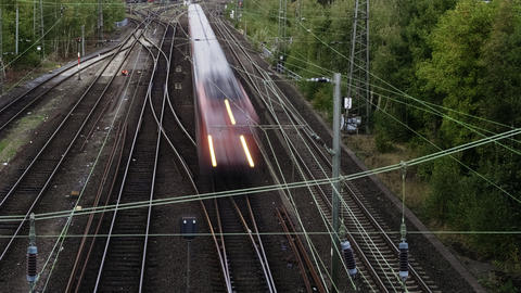 Timelapse Of High Speed Trains And Railroad Rails Live Action
