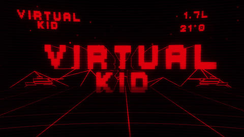 Virtual Kid Title Reveal After Effectsテンプレート