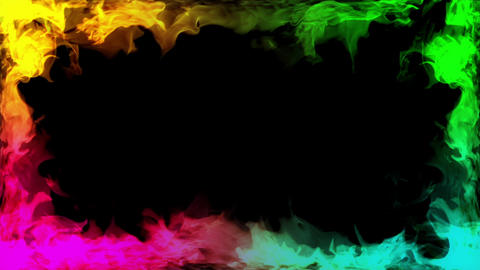 Fire around side corner rainbow animation Videos animados