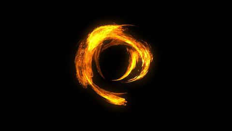 Fire circle tunnel spark animation Animation