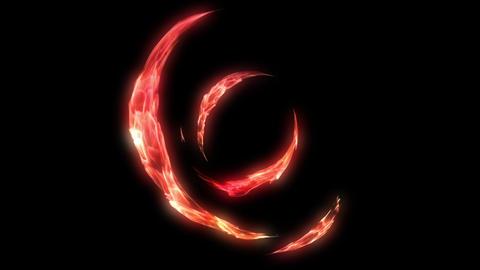 Fire circle tunnel spark Animation