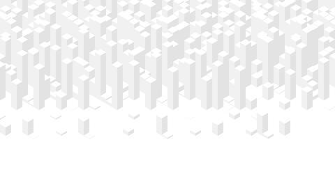 Cube box square bar 3D virtual isometric shuffle wave pattern, Blockchain technology concept design Animation