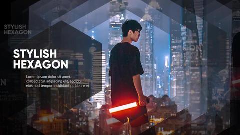 Slideshow - Stylish Hexagon // Premiere Pro Premiere Pro Template