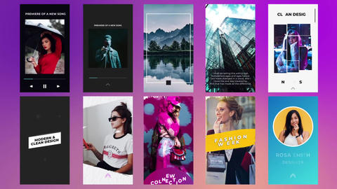Instagram Stories Pack V4 After Effects Template