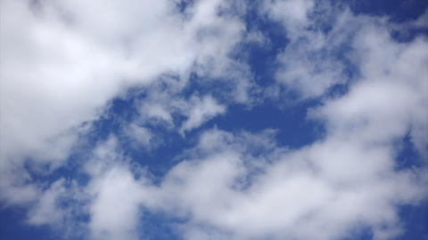 Fluffy clouds, Timelapse. White clouds at blue sky background. Clean air concept Footage