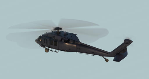 Military helicopter UH-60 Black Hawk realistic 3d animation Animation