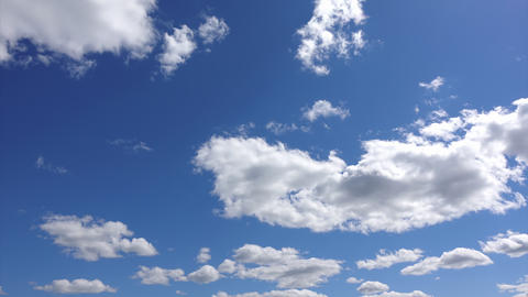Cloudscape of blue heaven, Time-lapse 4k. Atmosphere of ease and freedom Live Action