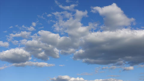 Time-lapse, Beautiful clouds in the high blue sky. Clear atmosphere concept Live Action