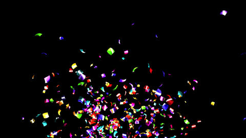 Confetti ColorfulMetalic 4K with AlphaMask Videos animados