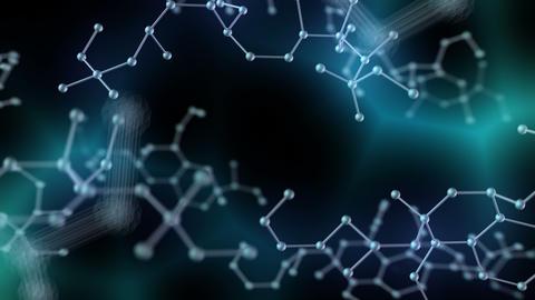 Chemical molecule Bh dark 4k Animation