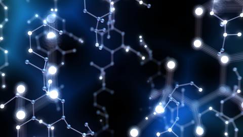 Chemical molecule Bv neon dark 4k Animation