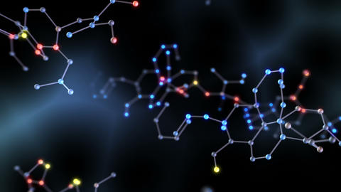 Chemical molecule Dh LED neon dark 4k Animation