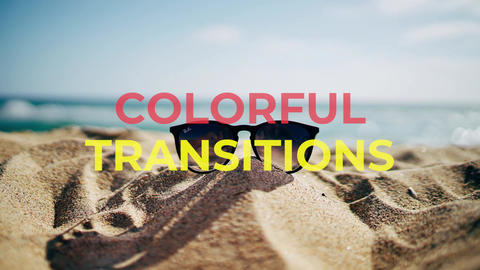 Colorful transitions Motion Graphics Template