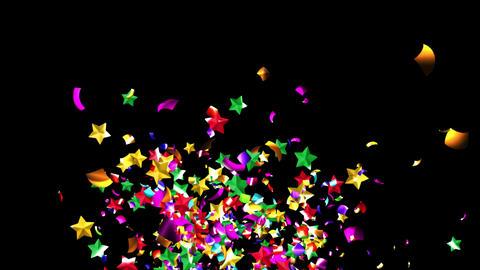 Confetti StarMix 4K Animation