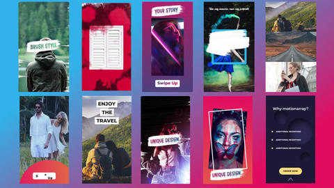 Instagram Stories Pack V10 After Effects Template