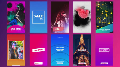 Instagram Stories Pack V10.1 After Effects Template