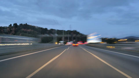 Highway Motorway Rage Camera Car High Speed at Dusk Footage