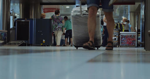 Travelers in the Airport Footage