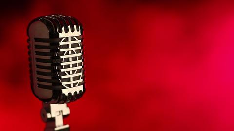 Retro mic with red smoke Footage