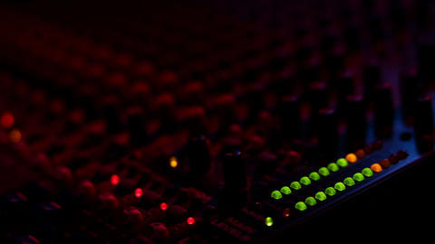 Mixing board at the concert Footage