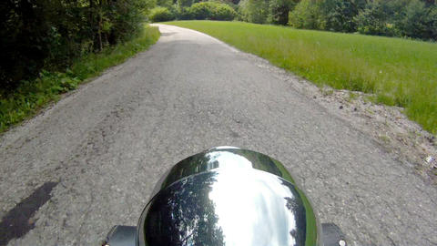 Motorcycle ride on a mountain road Footage