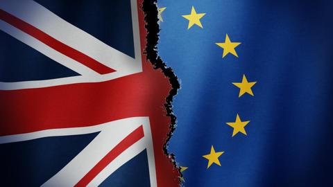 Brexit Flag Loop CG動画素材