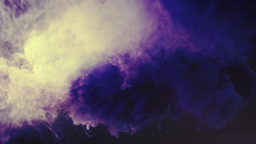 Colored Smoke Curves Isolated on Black Background Footage