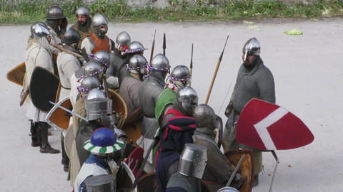 medieval battle army take sides Footage